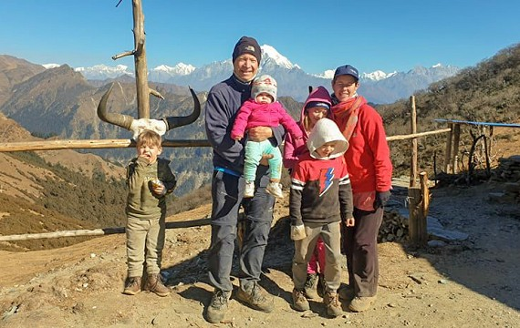 Family hike to Ruby Valley-Trekking in Nepal 2020