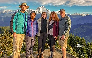 Annapurna range & Dhaulagiri view from Poon Hill