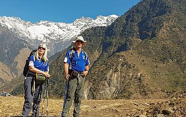 two friends trekking in ruby valley