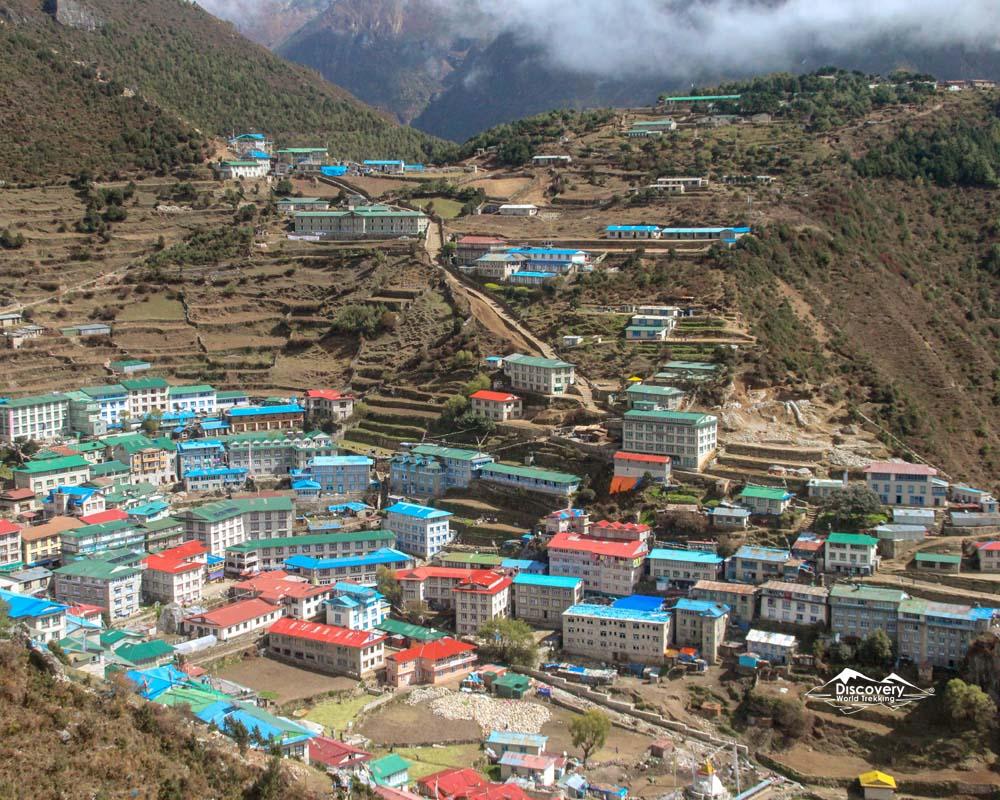 Namche bazar : Everest Base Camp trek route